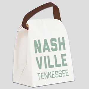 Nashville Tennessee Canvas Lunch Bag
