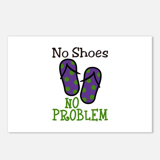 No Shoes No Problem Postcards (Package of 8)