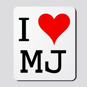 I Love MJ Mousepad