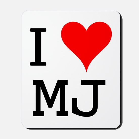 I Love MJ Mousepad