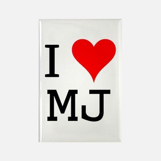 I Love MJ Rectangle Magnet