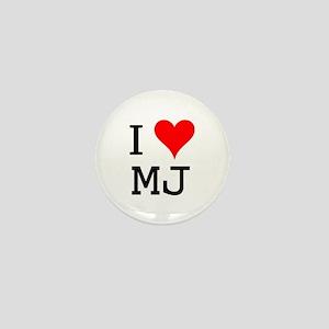I Love MJ Mini Button