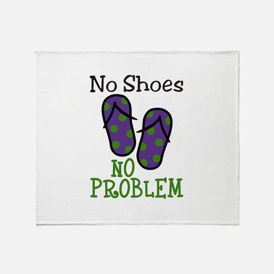 No Shoes No Problem Throw Blanket