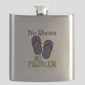 No Shoes No Problem Flask
