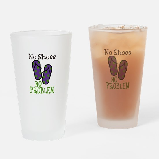 No Shoes No Problem Drinking Glass