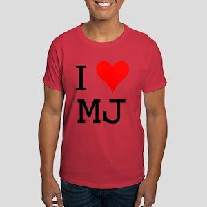I Love MJ Dark T-Shirt
