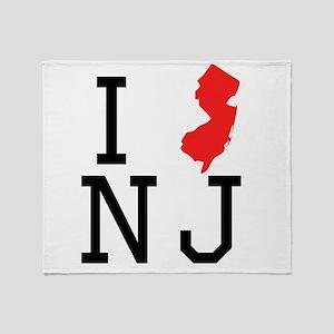 I Heart New Jersey Throw Blanket