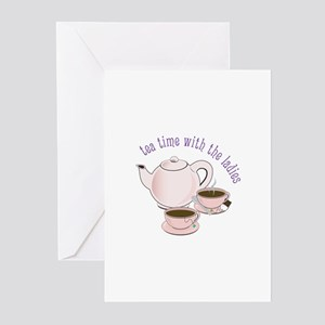tea time with the ladies Greeting Cards