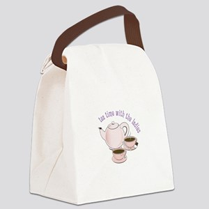tea time with the ladies Canvas Lunch Bag