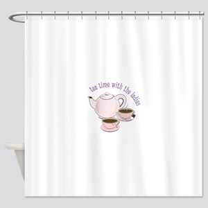tea time with the ladies Shower Curtain