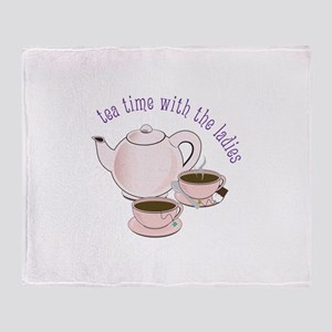 tea time with the ladies Throw Blanket
