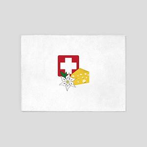 Swiss 5'x7'Area Rug