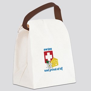 swiss and proud of it! Canvas Lunch Bag