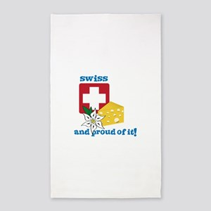 swiss and proud of it! 3'x5' Area Rug