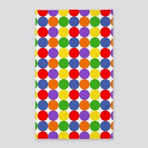 Colorful Polka Dots 3'x5' Area Rug