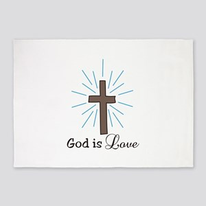 God is Love 5'x7'Area Rug