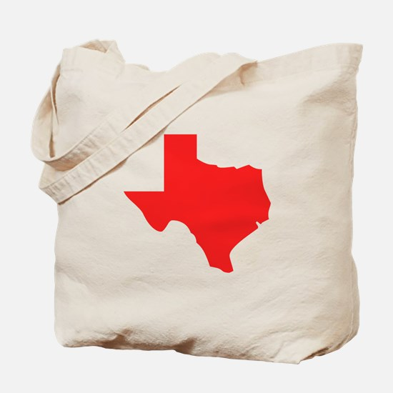 Red Texas Silhouette Tote Bag