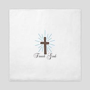Trust God Queen Duvet
