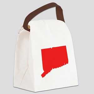 Red Rhode Island Silhouette Canvas Lunch Bag