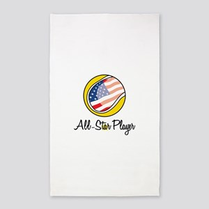 All-Star Player 3'x5' Area Rug