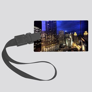 Chicago Skyscrapers Large Luggage Tag