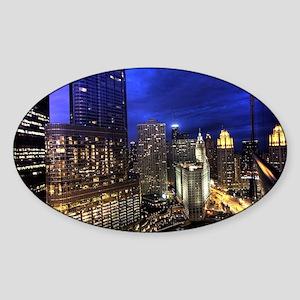 Chicago Skyscrapers Sticker (Oval)