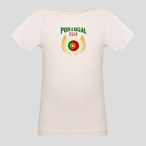 Soccer Portugal 2014 Wings Organic Baby T-Shirt