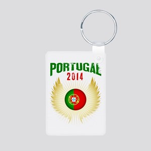 Soccer Portugal 2014 Wings Aluminum Photo Keychain