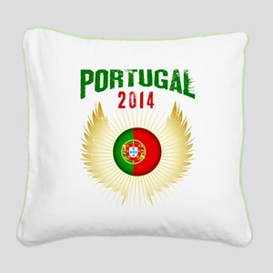 Soccer Portugal 2014 Wings Square Canvas Pillow