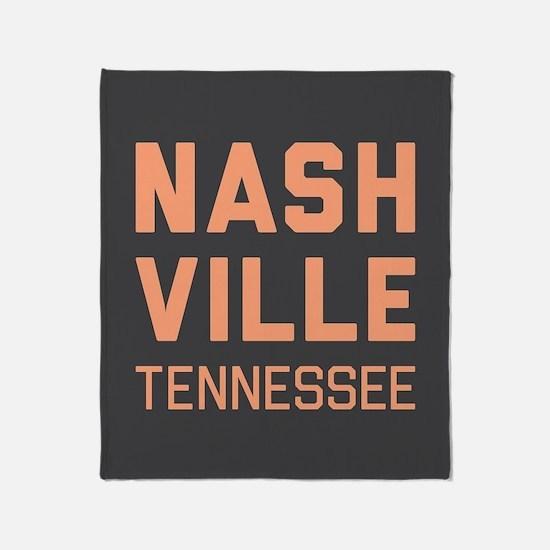Nashville Tennessee Throw Blanket