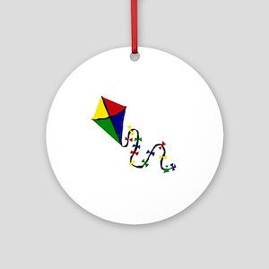 Kite Art Round Ornament