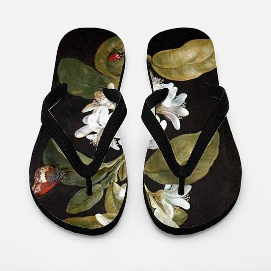 Pear Flower Flip Flops