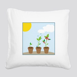 Seedlings Square Canvas Pillow