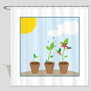 Seedlings Shower Curtain