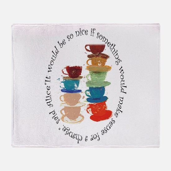Its A Mad, Mad, Mad World, Alice Throw Blanket