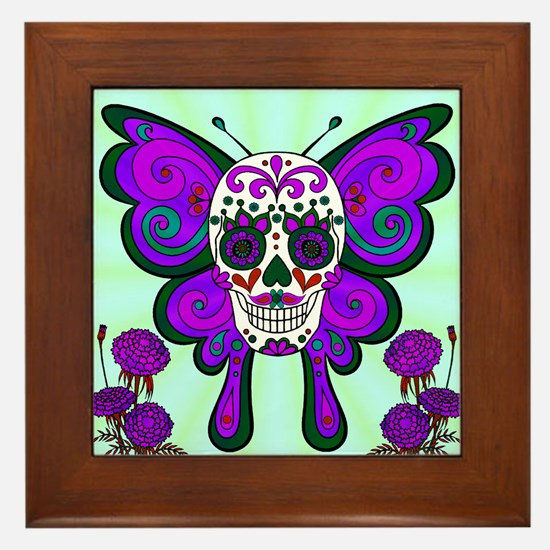 Best Seller Sugar Skull Framed Tile