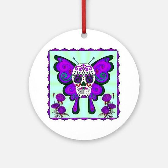 Best Seller Sugar Skull Round Ornament