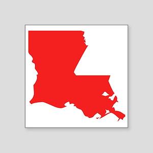 Red Louisiana Silhouette Sticker