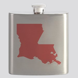Red Louisiana Silhouette Flask