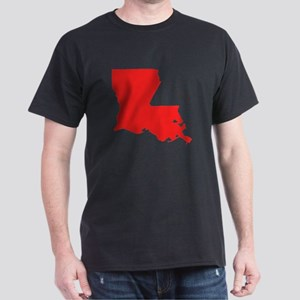 Red Louisiana Silhouette T-Shirt