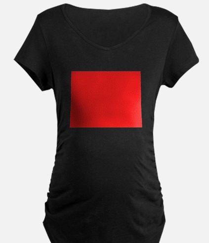 Red Colorado Silhouette Maternity T-Shirt