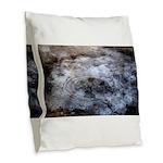 Ice figures Burlap Throw Pillow