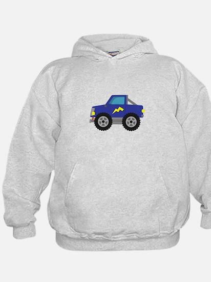 Cool Blue Race Monster Truck Hoodie