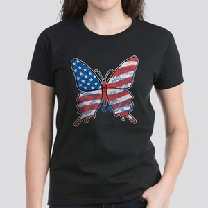 Patriotic Butterfly Women's Dark T-Shirt