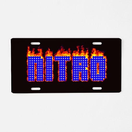 Nitro Aluminum License Plate