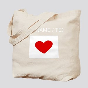 Custom Colorado Heart Tote Bag