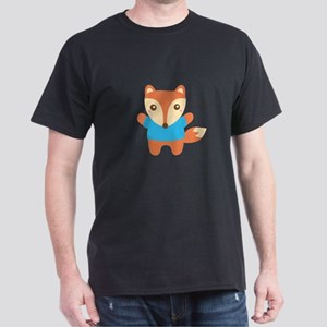 Cute Little Fox in Blue Tee T-Shirt
