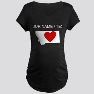 Custom Nebraska Heart Maternity T-Shirt