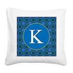 Sioux Snow Monogram Square Canvas Pillow