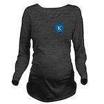 Sioux Snow Monogram Long Sleeve Maternity T-Shirt